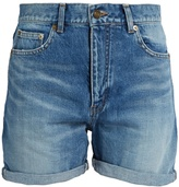 Saint Laurent High-rise denim shorts