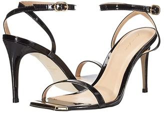 Massimo Matteo Gold Tip Heeled Sandal (Black) Women's Shoes