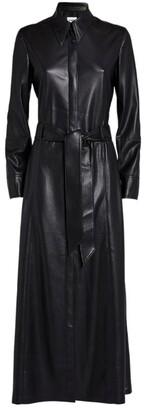 Nanushka Vegan Leather Asayo Shirt Dress