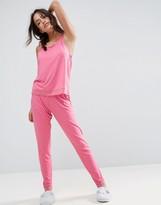 Asos Lace Trim Singlet & Legging Pyjama Set