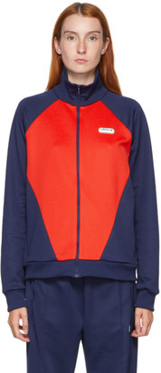 adidas LOTTA VOLKOVA Red and Navy Podium Track Jacket