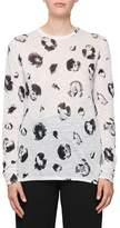 Proenza Schouler Long-Sleeve Blossom-Print Cotton T-Shirt