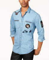 INC International Concepts Men's Denim Patch Shirt, Created for Macy's