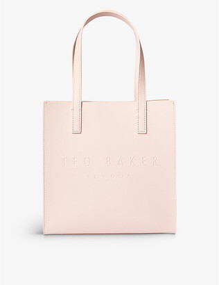 Ted Baker Icon small crosshatch leather shopper