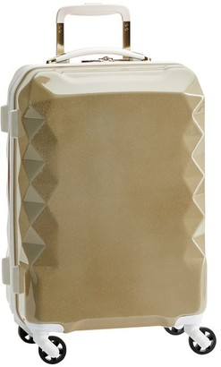 Pottery Barn Teen Luxe Hard-Sided Gold Glitter Carry-On Spinner Suitcase