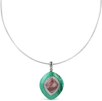 Bellus Domina Silver Jasper & Malachite Necklace