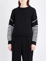 Sportmax Eger striped knitted jumper