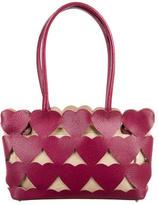 Anya Hindmarch Heart Cutout Leather Shoulder Bag