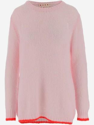 Marni Pink Wool Women's Long Sweater