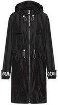 HUGO BOSS - Relaxed Fit Parka With Logo Print Cuff Straps - Black