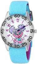 EWatchFactory Girl's 'Sesame Street' Quartz Plastic and Nylon Automatic Watch, Color:Blue (Model: W003191)