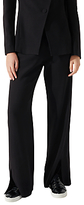 Jigsaw Kria Rounded Tailoring Trousers, Black