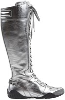 Christian Dior Silver Leather Boots