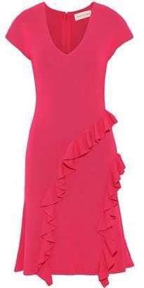 Sachin + Babi Shalise Ruffled Melange Stretch-knit Dress