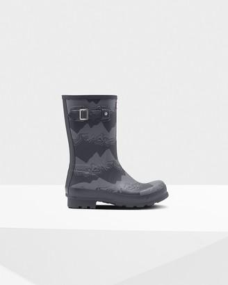 Hunter Men's Original Short Storm Stripe Rain Boots