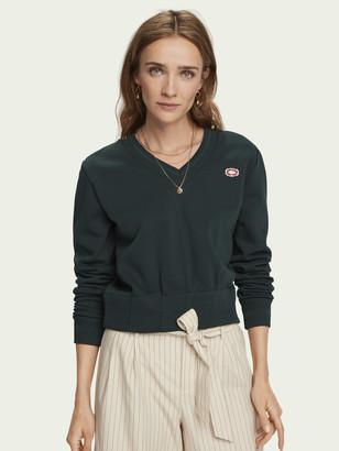Scotch & Soda Shaped waist V-neck sweatshirt   Women