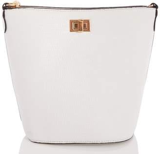 Quiz White Chain Strap Bucket Bag