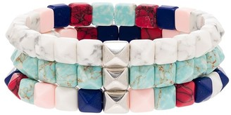 Isabel Marant Set Of Three Beaded Bracelet Set