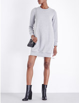 Sacai Contrast-back cotton-jersey sweatshirt dress