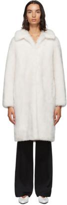 Yves Salomon Meteo White Lamb Wool Coat