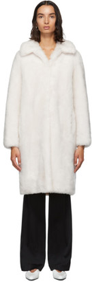 Yves Salomon Meteo Meteo White Lamb Wool Coat