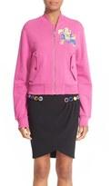 Moschino Women's Cartoon Animal Fleece Jacket