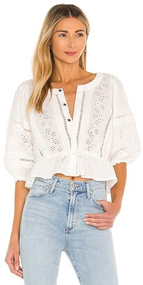 Free People Daisy Chain Eyelet Top