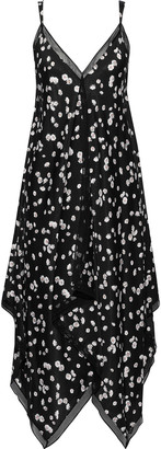 Jason Wu Collection Asymmetric Floral-print Crepe De Chine Midi Slip Dress