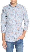 Scotch & Soda Men's Extra Trim Fit Print Woven Shirt