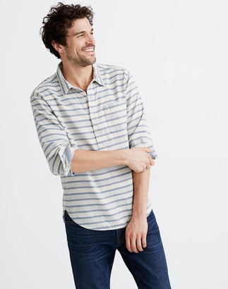 Madewell Double-Weave Perfect Pullover Shirt in Emmons Stripe