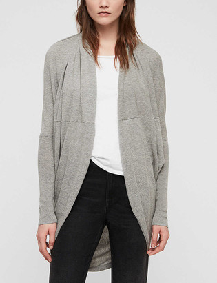 AllSaints Itat draped cotton-knit cardigan
