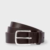 Paul Smith Men's Chocolate Brown Leather Belt With No.9 Lining