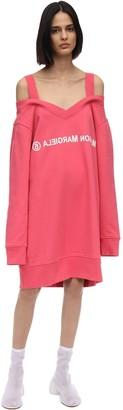 MM6 MAISON MARGIELA Off-The-Shoulder Cotton Sweater Dress