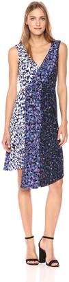 Rachel Roy Women's Mixed Printed Asymmetrical Dress