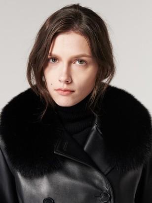 The Suin High Quality Genuine Fox Fur Scarf Black