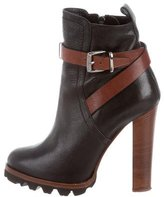 Barbara Bui Leather Platform Ankle Boots