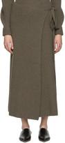 Joseph Brown Wool Wrap Skirt
