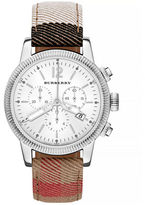 Burberry Utilitarian Check Chronograph Watch