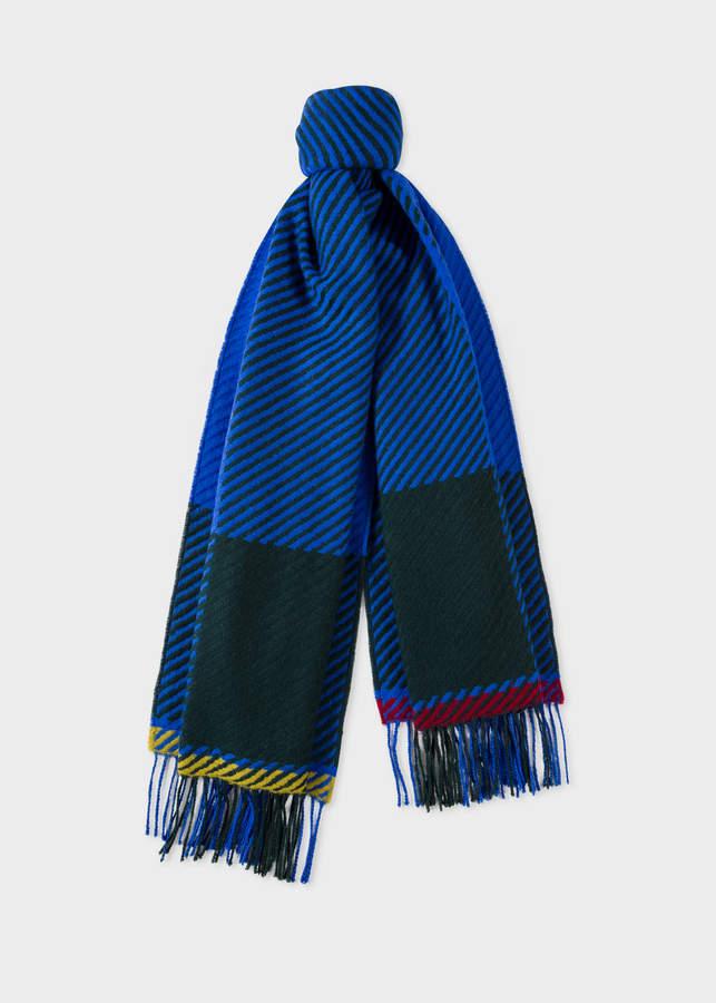 ba3c0545724da Scarf Blue Wool Men - ShopStyle