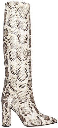 Paris Texas High Heels Boots In Animalier Leather
