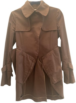 John Rocha Khaki Cotton Trench Coat for Women