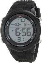 U.S. Polo Assn. Sport Men's US9219 Black Silicone Digital Watch