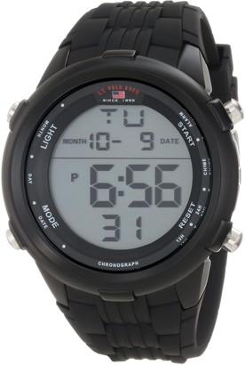 U.S. Polo Assn. Sport Men's US9219 Black Silicone Digital Watch