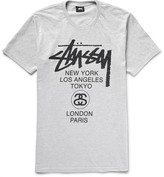 Stussy World Tour Printed Cotton-Blend Jersey T-Shirt