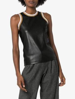 Markoo leather-effect tank top