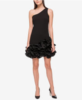 Jessica Simpson One-Shoulder Ruffled Sheath Dress