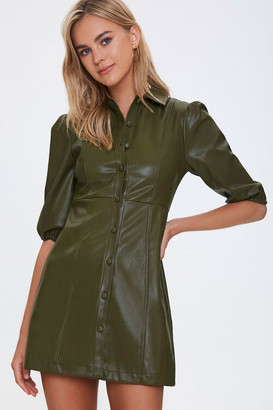 Forever 21 Faux Leather Mini Dress