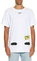 Off-White Spray-Paint Logo T-Shirt, White/Black