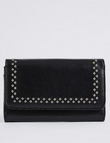 Marks and Spencer Faux Leather Twin Needle Purse
