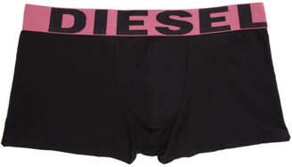 Diesel Three-Pack Black UMBM Shawn Boxer Briefs